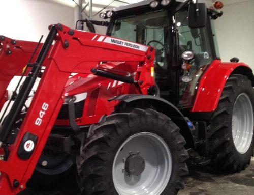 Lakkforsegling av traktor